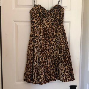 A.B.S collection strapless leopard dress